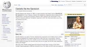 Danielle Ate the Sandwich's Wikipedia Page