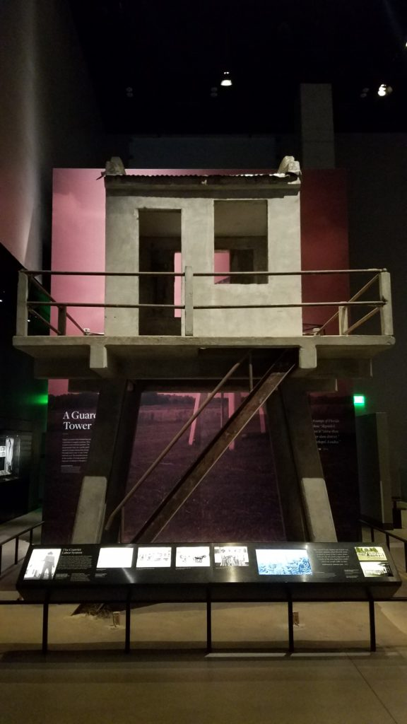 Guard Tower from Angola Prison, on display at the National Museum of African American History and Culture.